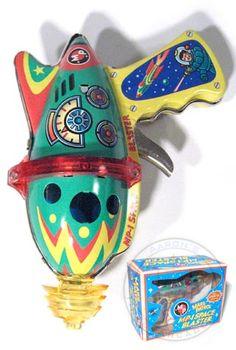 Toy Ray Gun. (Atomic Age / Futurism / Retro  Vintage Toy )