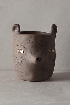 forest critter garden pot / anthropologie