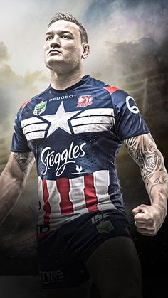 Round 21 of the NRL Telstra Premiership will see footy fans and their heroes collide when seven teams align with Marvel to battle it out in Super Hero Round. Australian Rugby League, Rooster Logo, Wrestling Shoes, Badminton, Sports Logo, Cool Logo, Olympic Games, Motorcycle Jacket, Athlete