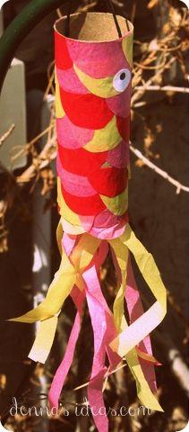 denna's ideas: making koinobori flying carp to celebrate Children's Day