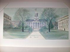 P Buckley Moss Print of Iowa University