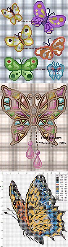 Бабочки. Вышивка - Клуб рукоделия - Страна Мам