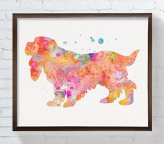 High quality print of my original watercolor artwork The Cocker Spaniel.  Professionally printed on heavy weight (230 g. 9-5 mil), acid-free, high