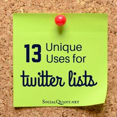 13 Unique Ways To Use Lists On Twitter. {I ( @sunjayjk ) have very Useful Diversity of #Twitter_Lists https://twitter.com/SunjayJK/lists (scroll down 4 populated 1s, on Fashion, Health, Food, Indian, Desi, Christian Weddings 2 Interiors, Archi, Governance, Women... (Subscribe & USE)}