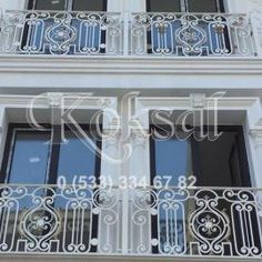 Beyaz Balkon Korkuluk Demirleri Steel Gate Design, Door Gate Design, Roman Shades, Door Handles, Curtains, Doors, Mirror, Home Decor, Iron Decor
