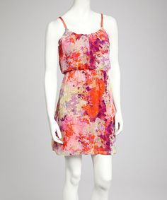 Take a look at this Red & Yellow Butterfly Sleeveless Dress by Bailey Blue on #zulily today!