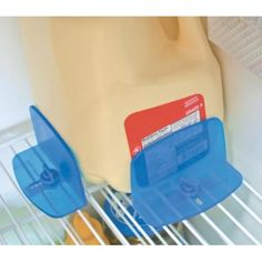 RV Refrigerator Brace keeps milk and other items sitting upright when travelling preventing unwanted spills.