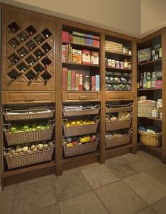 Custom Closet - traditional - closet - detroit - Custom Closet & Garage, Terry Hill Like the idea of baskets in Prep Kitchen for fresh foods not refrigerated