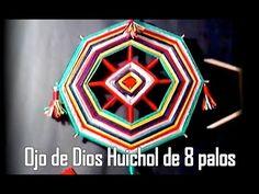 """OJO DE DIOS HUICHOL 8 PALOS """"modificado"""""""