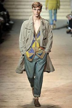 Missoni Menswear Spring 2010 Features Patchwork Shirts trendhunter.com