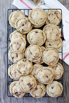 Malted Chocolate Chip Whopper Cookies from twopeasandtheirpod.com
