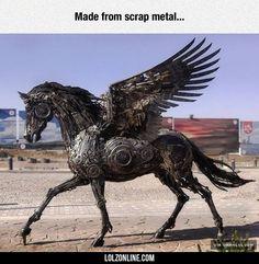 Incredible Pegasus Sculpture#funny #lol #lolzonline