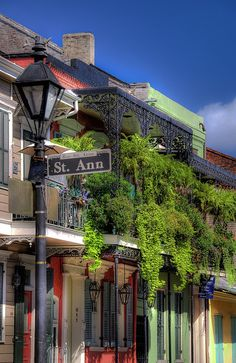 Rue Ste. Anne in the French Quarter, New Orleans, Louisiana