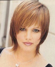 fine asymetric hair | below chin fine hair shag haircut