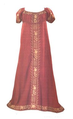 Gown from 1810 - inspiration for red-gold day-dress or ball gown I would love to have