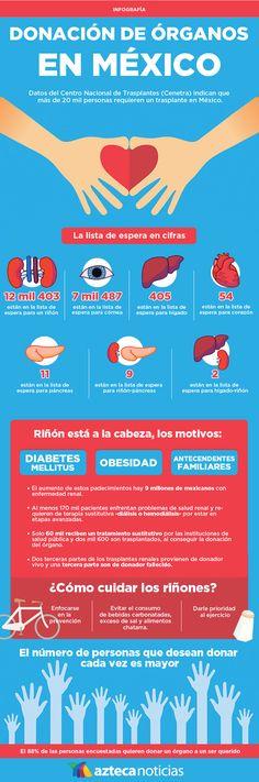 Donación de órganos en México #infografia