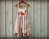 M-L Upcycled Bohemian Trapeze Dress// emmevielle