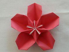 Origami ~ Sakura no Ko ~ - Etsuko Mama naplója Origami And Kirigami, Origami Paper Art, Origami Stars, Origami Flowers, Diy Flowers, Paper Flowers, Paper Crafts, Diy Home Crafts, Holiday Crafts