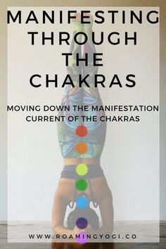 Explore how you can bring your visions to life by working with the chakras, moving down the manifestation current. Includes a manifesting through the chakras vinyasa class for you to try at home! #yoga #chakras #manifestation #manifesting #chakrasforbegin Chakra Meditation, Chakra Healing, Yoga Sequences, Yoga Poses, Namaste, Mudras, Yoga At Home, Chakra Balancing, Ashtanga Yoga