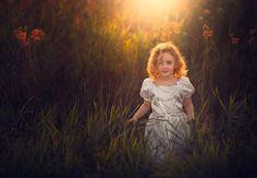 Child - Little girl - Sunset - Golden Hair - Sudbury Ontario Girls Dresses, Flower Girl Dresses, Golden Hair, Ontario, Little Girls, Child, Sunset, Studio, Wedding Dresses