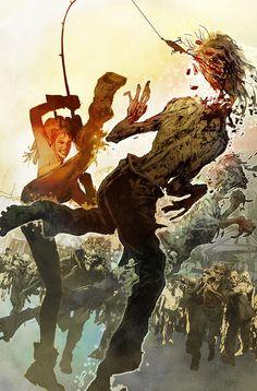 Harley Quinn vs. Zombies by Bill Sienkiewicz *