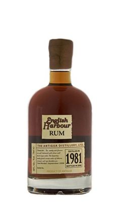 English Harbour 25 Year Old Antigua Rum Vintage 1981