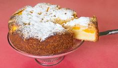 Lucy Corry's peach crumble cake