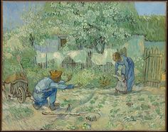 Vincent van Gogh (Dutch, 1853–1890). First Steps, after Millet, 1890. The Metropolitan Museum of Art, New York.  Gift of George N. and Helen M. Richard, 1964 (64.165.2)