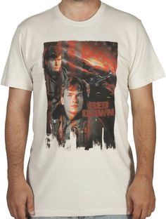 5b74e9cd98ddb Movie Poster Red Dawn Shirt Retro Shirts