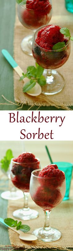 BLACKBERRY SORBET + LEARN HOW TO MAKE ANY FRUIT SORBET. Colorful ...