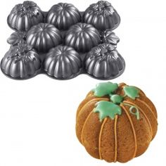 Mini Pumpkins Cake Pan with Multi-Cavities Grey