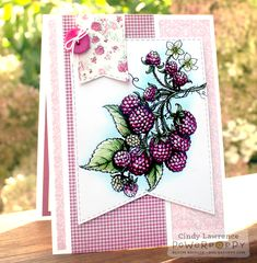 Berry It Digital Stamp Set by Power Poppy, Card Design by Cindy Lawrence.
