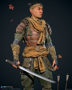 ArtStation - Sergei Kotenko's submission on Feudal Japan: The Shogunate - Game Character Art (real-time) Game Character, Character Concept, Character Design, Dnd Characters, Fantasy Characters, Fantasy Inspiration, Character Inspiration, Ninja Art, Legends And Myths