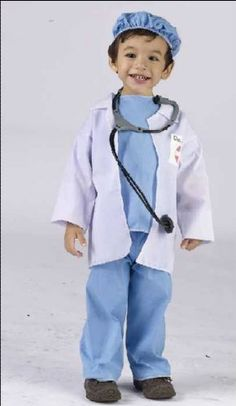 amazoncom dr littles toddler doctor kids halloween costume clothing - Kids Doctor Halloween Costume
