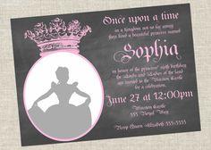 Princess Birthday Invitation by AvalieElizabeth on Etsy, $10.00