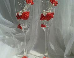 Wedding glasses by Shimmerella on Etsy