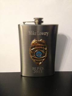Police Flask , policeman Flask , Police Officer Flask 8oz Stainless Steel Chrome Retirement Memorial Free Engraving Custom Personalized on Etsy, $12.99
