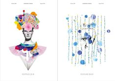 <p>These very beautiful and fashionable mixed media illustrations are the work of German/Japanese artist Niky Roehreke. It is not the first time we review her work and we like it so much that we wante