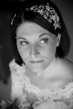 Our real bride Kate wearing her bespoke Hermione Harbutt Vintage Vine Headdress on her most memorable day!