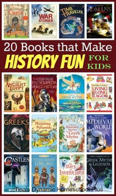 20 Awesome History Books for Kids + Pssssst It's a Giveaway
