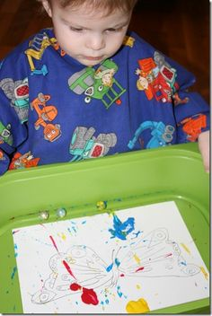 Marble painting with toddlers