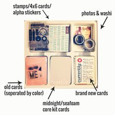 Packing a Kit for Project Life | rukristin papercrafts