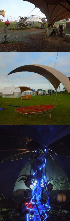 Funky Bedouinflex Stretch tent custom structures for Hortisculptors