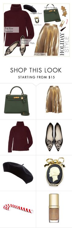 """""""Happy Holidays! :)"""" by blackpearls ❤ liked on Polyvore featuring Hermès, A.L.C., The Row, Sophia Webster, Chanel, H&M, Dolce&Gabbana and Laura Mercier"""
