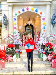 Christmas at Turtle Creek Lane 2019 - The Front Porch - Turtle Creek Lane Gingerbread Christmas Decor, Candy Land Christmas, Welcome To Christmas, Tacky Christmas, Christmas Decorations For The Home, Christmas Fairy, Xmas Decorations, Christmas Crafts, Gingerbread Ornaments
