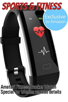Amatari Fitness Tracker Watch Special for Women and Girls with Black Band + Gift Pink Band for Waterproof Tracker Watch with Blood Pressure and Heart Rate Tracker for Women's Best Fitness Activity ... (This is an affiliate link) Best Fitness Tracker, Fitness Activities, Heart Rate, Blood Pressure, Fun Workouts, Amazing Women, Fitbit, Watches, Band