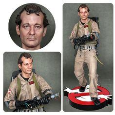 Hollywood Collectibles Group is coming out with scale statue based on the likeness of Actor Bill Murray, whom many of you know portrayed Peter Venkman in both Ghostbusters feature films. Original Ghostbusters, Ghostbusters 2016, Extreme Ghostbusters, Bill Murray, Beautiful Dolls, Life Is Beautiful, Statue Base, Actors Male, Ghost Busters