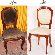 Before & After chair - restauro e tappezzeria sedie antiche atelier myArtistic... read more: http://myartistic.blogspot.it/2012/07/restauro-e-tappezzeria-sedie-antiche.html