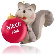 Niece Cute Little Squirrel Ornament,