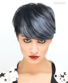 short hair with purple and black color and highlights - Google Search
